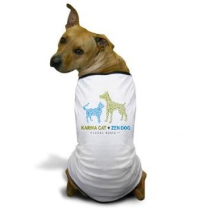 karma_cat_zen_dog_dog_tshirt