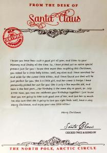 Santa's Official Letter