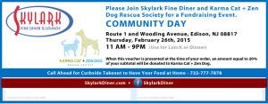 Skylark Diner - Community Event Voucher Karma Cat